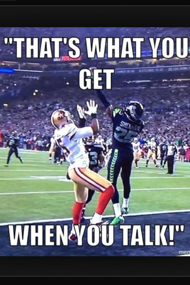 Clown of the year goes to Richard Sherman
