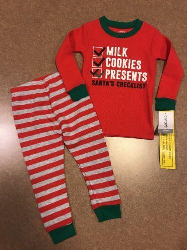 16621d52b32d Sleepwear 163400  Nwt Carter S Baby Boys Girls 2 Pc Milk Cookies ...