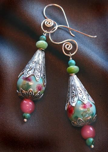 Vintage Dangle Bead Earrings. Craft ideas 5367 - LC.Pandahall.com