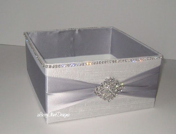 Wedding Box Program Box Bubble Box by LaceyClaireDesigns on Etsy accessories box for powder room