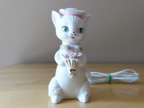 Vintage Irice Import Porcelain Art Nouveau Kitty by thetoadhouse