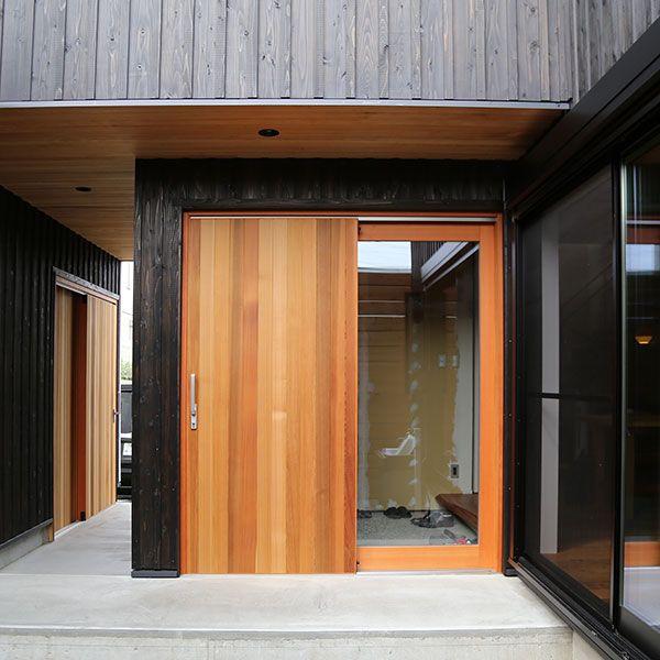 大和屋木製玄関引き戸 実例 お客様の声 大和屋株式会社 建材部