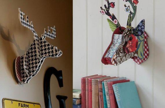 Cabezas de ciervo cartón