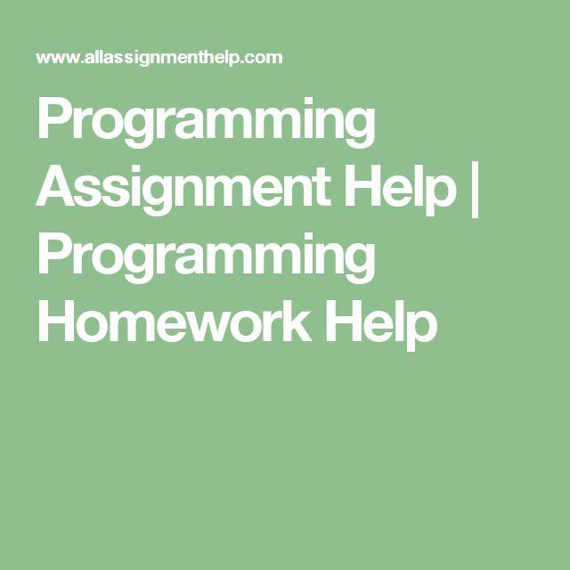 Programming Assignment Help | Programming Homework Help
