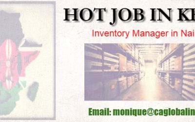 HOT JOB IN KENYA: Inventory Manager
