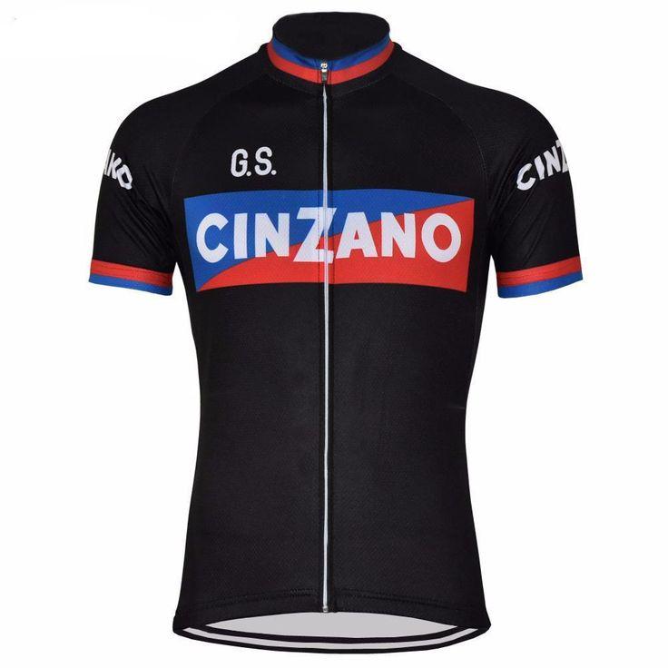 Retro Team Cinzano Black Cycling Jersey
