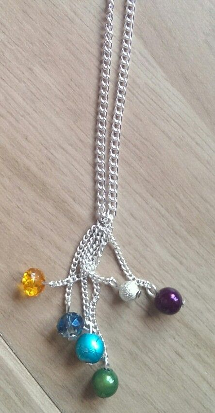 Dangle(y) necklace 1st attempt but am happy with it