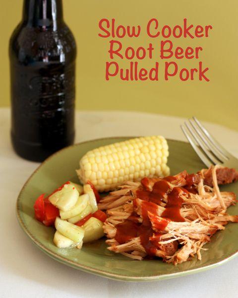 Slow Cooker Root Beer Pulled Pork | @CupcakeKaleChip slowcooker #crockpot #rootbeer #pulledpork