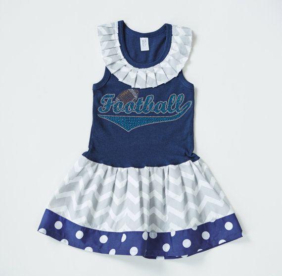 Girls Football Dress Girls Dresses Football by BabyThreadsByLiz, $30.00