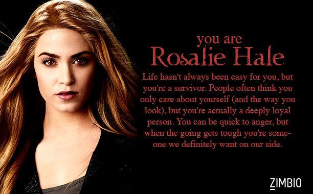 I took Zimbio's 'Twilight' quiz and I'm Rosalie Hale! Who are you?