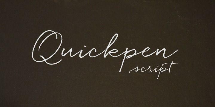 Quickpen - Webfont & Desktop font « MyFonts