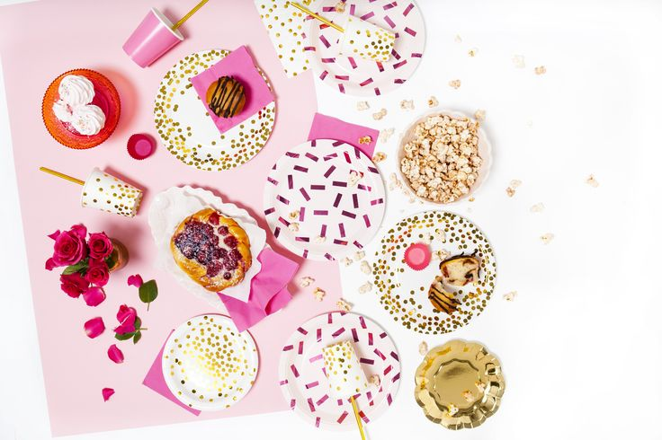 Pink & gold confetti party!