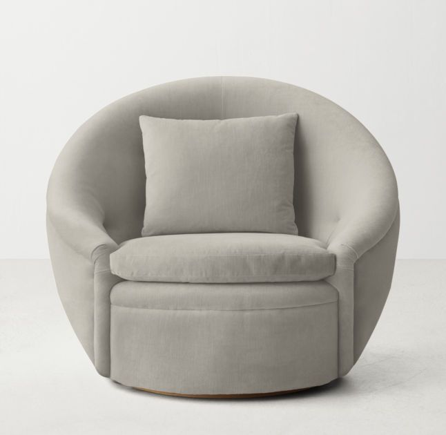 Our Cozy Tub Chairu0027s Enveloping Frame Swivels A Full 360 Degress And Offers  The Ultimate Spot To Curl Up And Relax. The Round Silhouette Has A Modern  ...