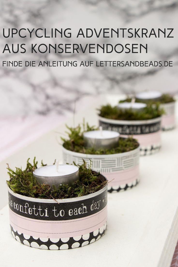 Zero Waste Xmas: Adventskranz aus Konservendosen