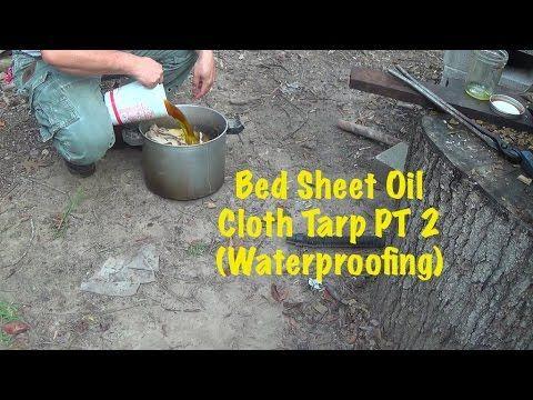 Homemade Bed Sheet Oil Cloth Tarp PT 2 (Waterproofing)