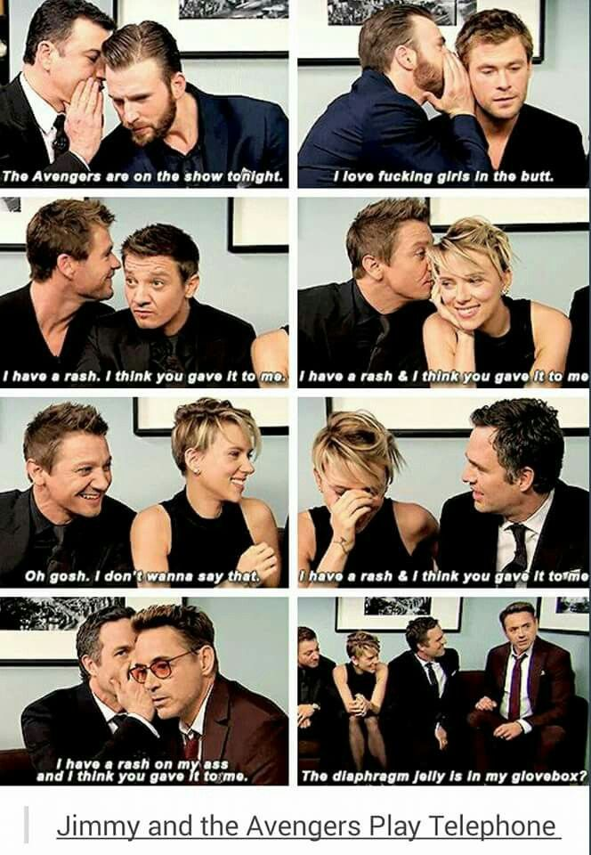 The fact that Jeremy Renner was able to hear what was said the best is funny because Hawkeye is deaf in the comics