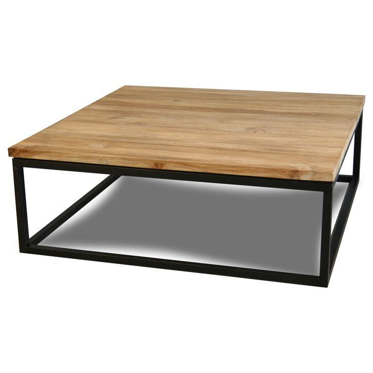 Teakhouten salontafel Big Belle 100x100 | Design meubelen en de laatste woontrends