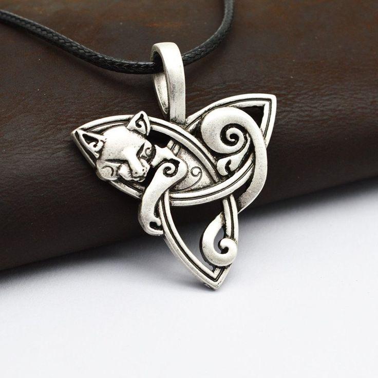 Fox Celtic Knot Pendant