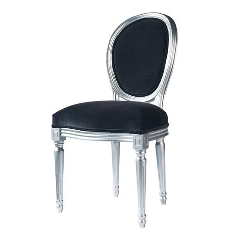 Chaise m daillon en velours et h v a grise chaise pinterest meilleures - Chaise medaillon velours ...