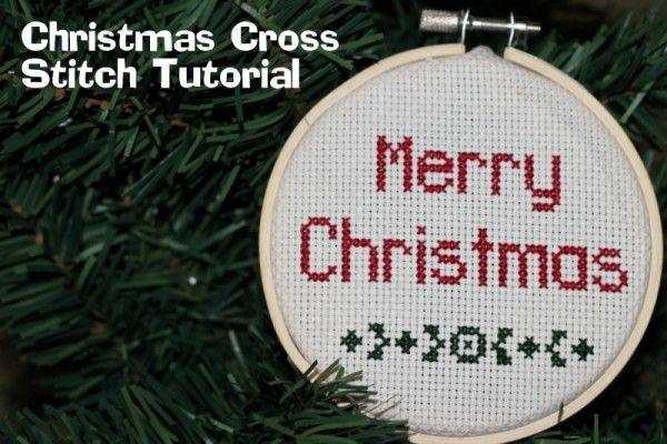 Christmas Cross Stitch Tutorial