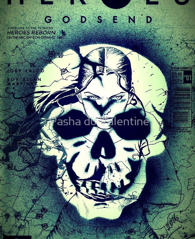 Skull on Heroes Cover by Pasha du Valentine for Goddamn Media
