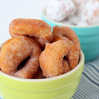 Crispy on the outside, soft and chewy on the inside, scandalously delicious and easy fried doughnuts made from leftover pizza dough