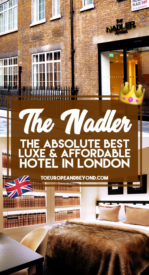 Where To Stay In London: Nadler Hotel Victoria via @marievallieres