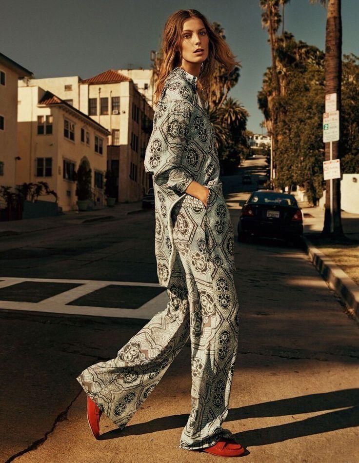 Летний костюм H&M в стиле хиппи #streetstyle #streetfashion