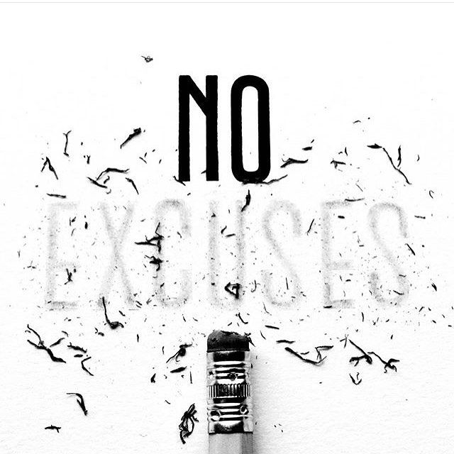 No excuses by @joey_bearbower Inspirational Quotes Lettering &…