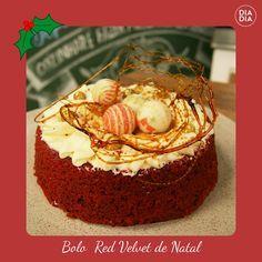Bolo Red Velvet de Natal