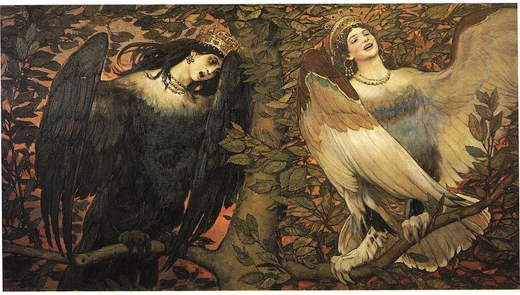 Sirin and Alkonost; The Birds of Joy and Sorrow