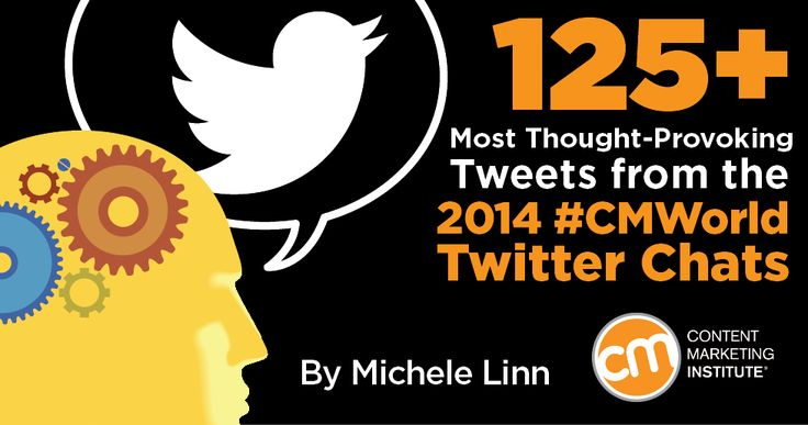 125+ Most Thought-Provoking Tweets from the 2014 #CMWorld Twitter Chats