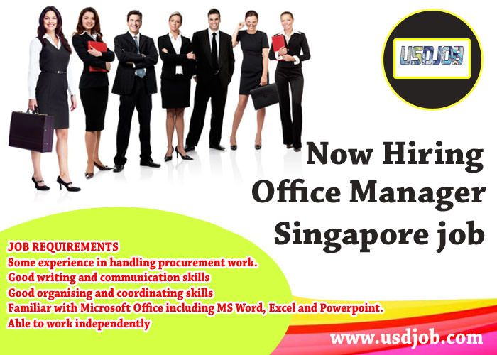Office Manager Jobs In Singapore | Jobs in Singapore