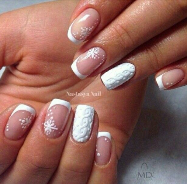57 best new year nail design images on pinterest nail design monochrome white nail french manicure ideas ideas of winter nails new year nails 2017 prinsesfo Images