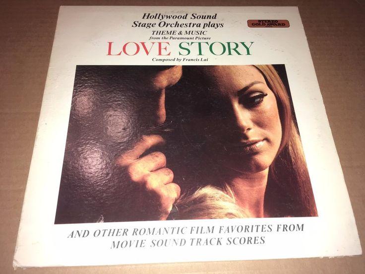 """Hollywood Sound Stage Orchestra Love Story Gold Award Records 1988 12"""" GA-31 #FilmScoreSoundtrackTVScoreSoundtrack"""