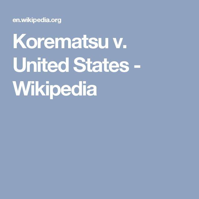 Korematsu v. United States - Wikipedia