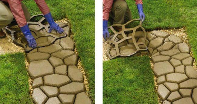 How to make a concrete walking path