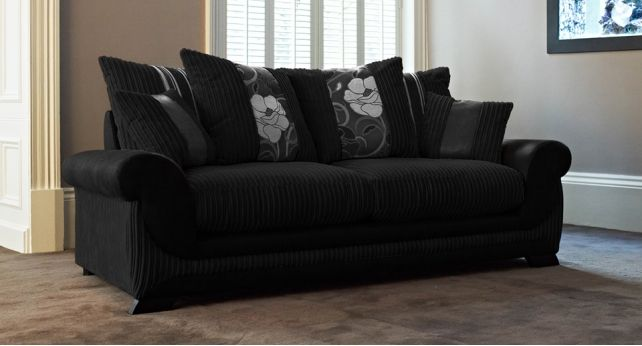 Kirk 3 Seater Sofa Scatter Back Leather Sofa Decor Home