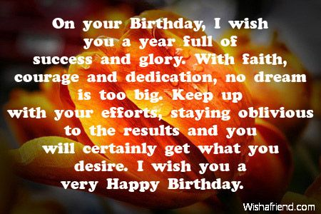 On your Birthday, I wish you, Inspirational Birthday Message