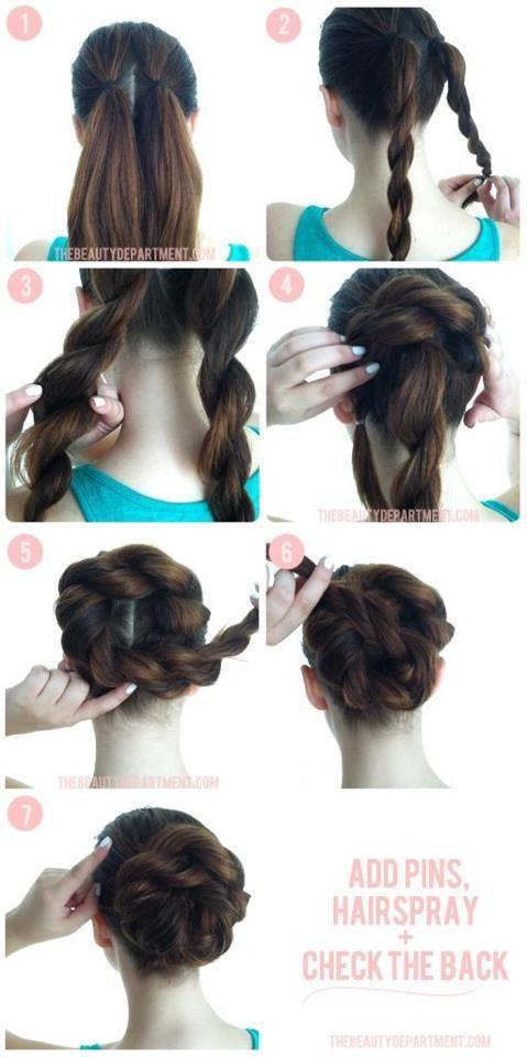 RECOGIDOS ELEGANTES FOTO-TUTORIAL : Peinados y cortes de cabello