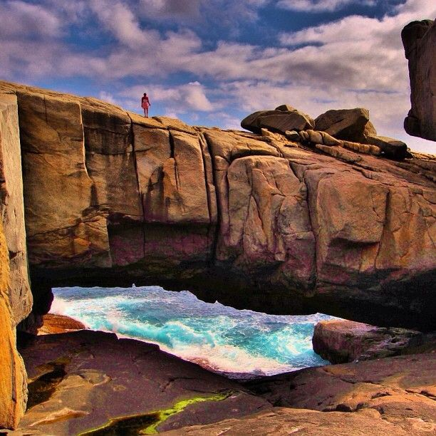 Natural Bridge in Torndirrup National Park, WA #Australia