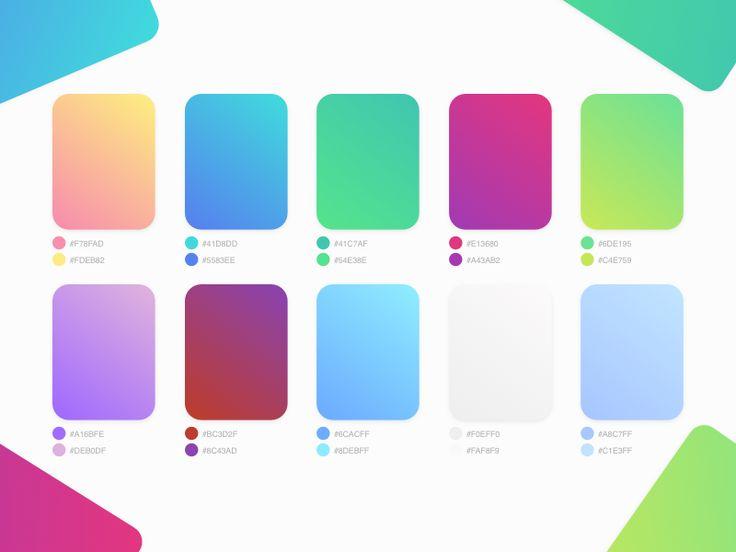 Flat UI Gradient Colors Palette