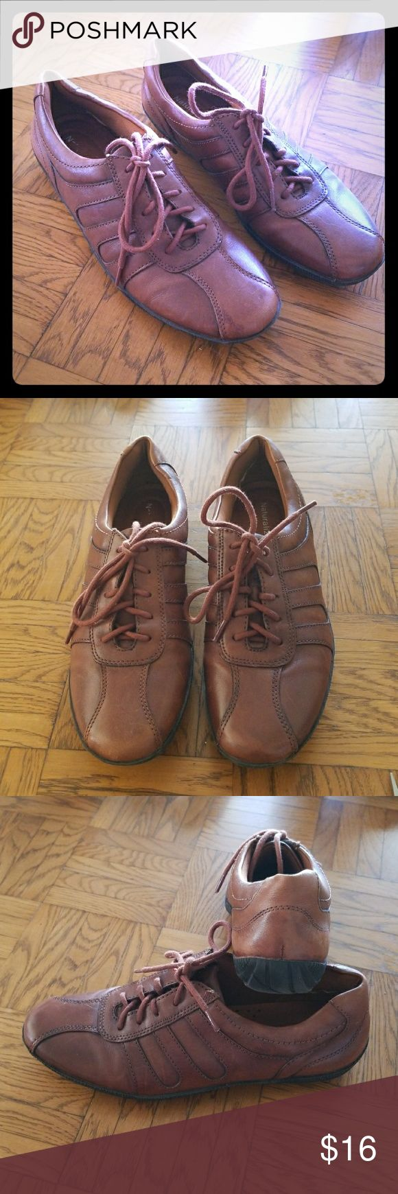 Naturalizer Brown Leather Shoes Naturalizer Brown Leather Shoes  * Size 7M * Addie collection * Rubber sole has some wear marks on side and bottom  * Inside soles are worn with Naturalizer name faded on right shoe Naturalizer Shoes Sneakers