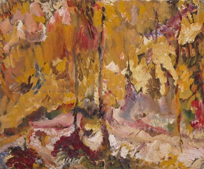 David Bomberg (British, 1890-1957), Trees in Sun, Cyprus, 1948. Oil on canvas, 63.9 x 76.5 cm. Tate Collection, London.