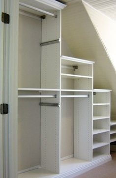 closet system for sloped ceiling - Google Search