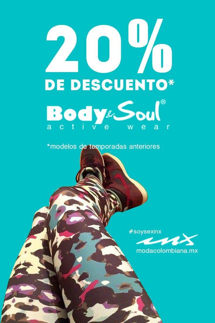 Leggings BODY SOUL con 20% de descuento ven por tu modelo favorito y ponte en forma. #SoySexInx #summer #FashionFitness