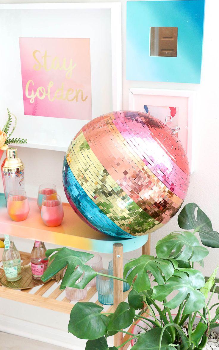 Make your own rainbow disco ball