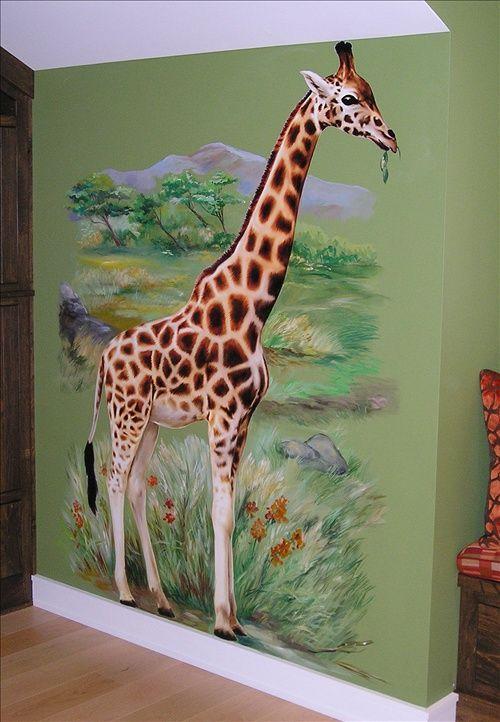 Jungle Playroom Giraffe - Mural Idea in North Royalton OH