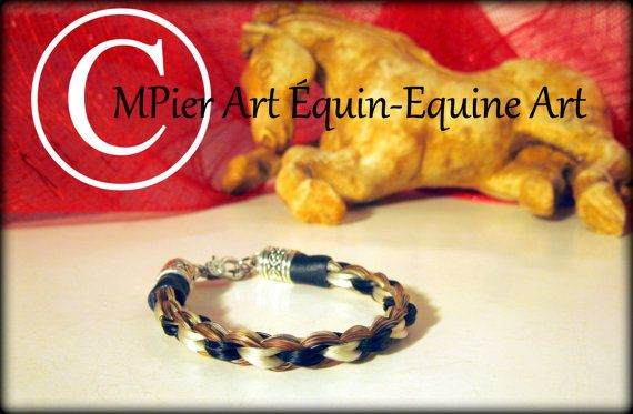 Bracelet en crins de cheval par MPierArtEquin sur Etsy