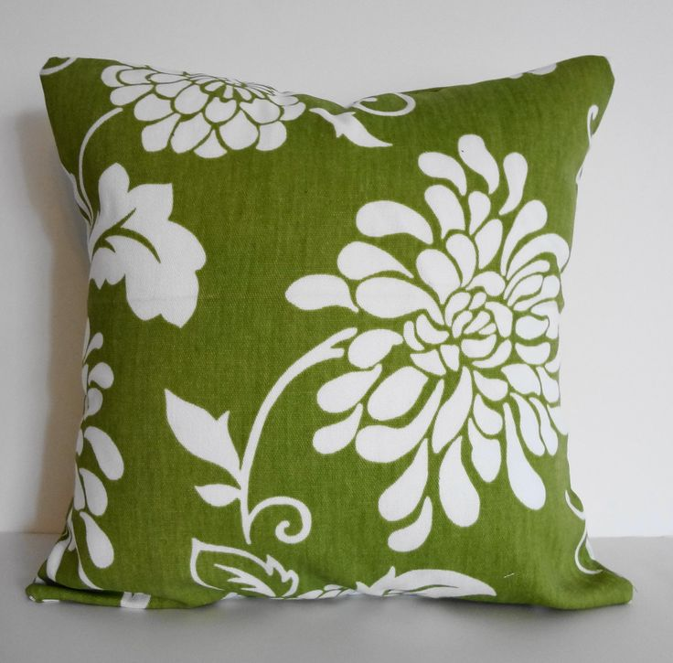 Lime Green Decorative Pillow Cover, Apple Green Throw Pillow Cover, 14 x 14 Green pillow ...